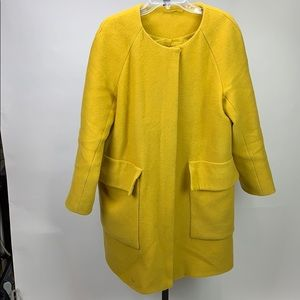 COS Yellow Peacoat with Pockets Size 10